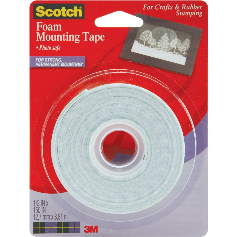 Image for SCOTCH 4013 FOAM MOUNTING TAPE PERMANENT 13MM X 3.8M WHITE from Axsel Office National