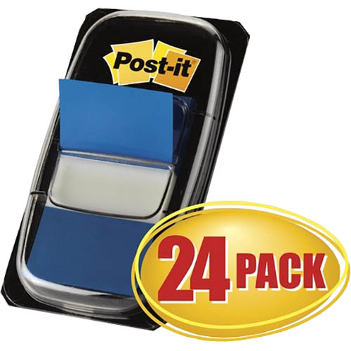 Image for POST-IT 680-2-24CP FLAGS BLUE CABINET PACK 24 from Mackay Business Machines (MBM)