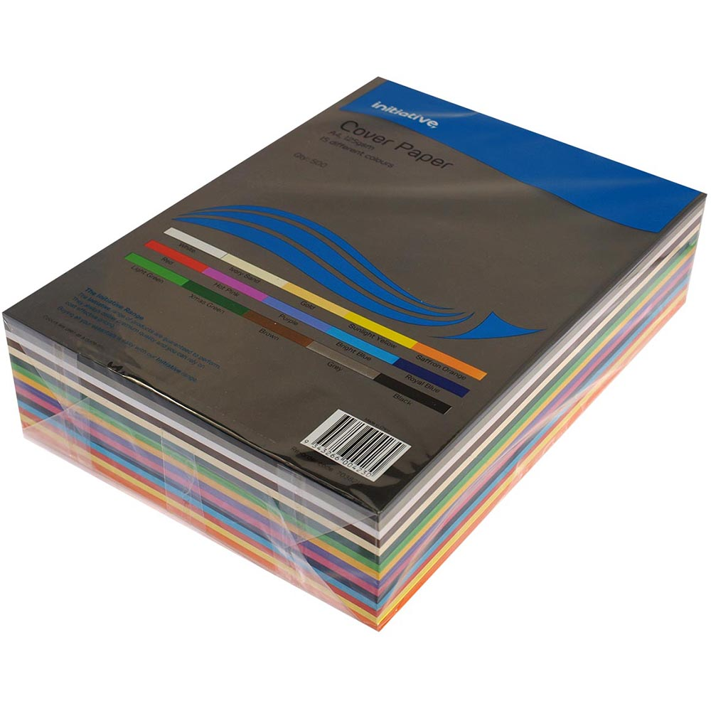 Image for INITIATIVE COVER PAPER 125GSM A4 15 COLOUR ASSORTED PACK 500 from Office National Capalaba