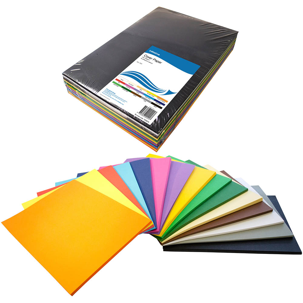 Image for INITIATIVE COVER PAPER 125GSM A3 15 COLOUR ASSORTED PACK 500 from Office National Capalaba