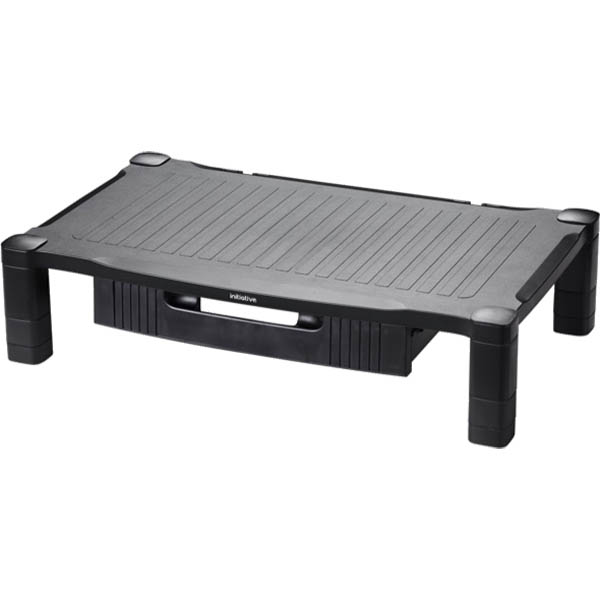 Image for INITIATIVE EXTRA WIDE MONITOR STAND WITH DRAWER BLACK from Connelly's Office National