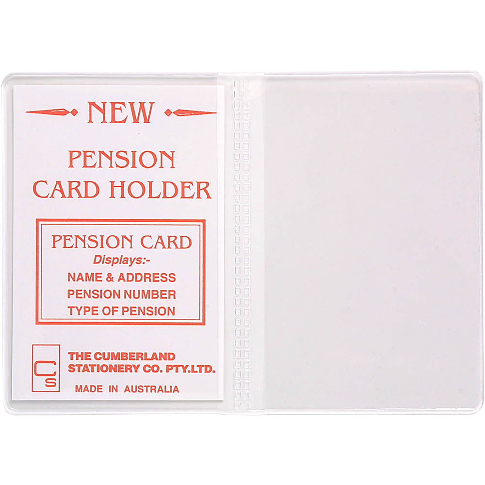 Image for CUMBERLAND CARD HOLDER 2 CLEAR POCKETS 100 X 70MM CLEAR PACK 10 from OFFICE NATIONAL CANNING VALE, JOONDALUP & OFFICE TOOLS OPD