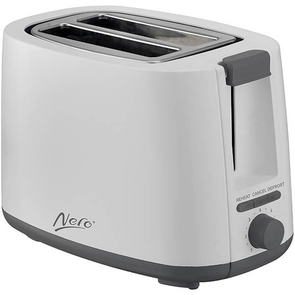 Image for NERO TOASTER 2 SLICE WHITE from Ezi Office National Tweed