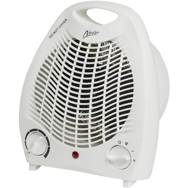 Image for NERO FAN HEATER 2000W WHITE from Ezi Office National Tweed