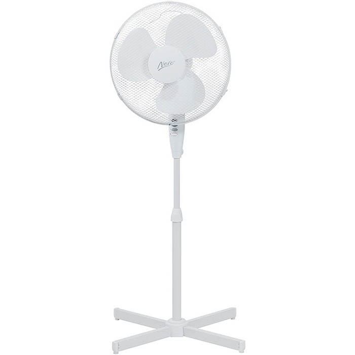 Image for NERO PEDESTAL FAN 400MM WHITE from Office National Capalaba