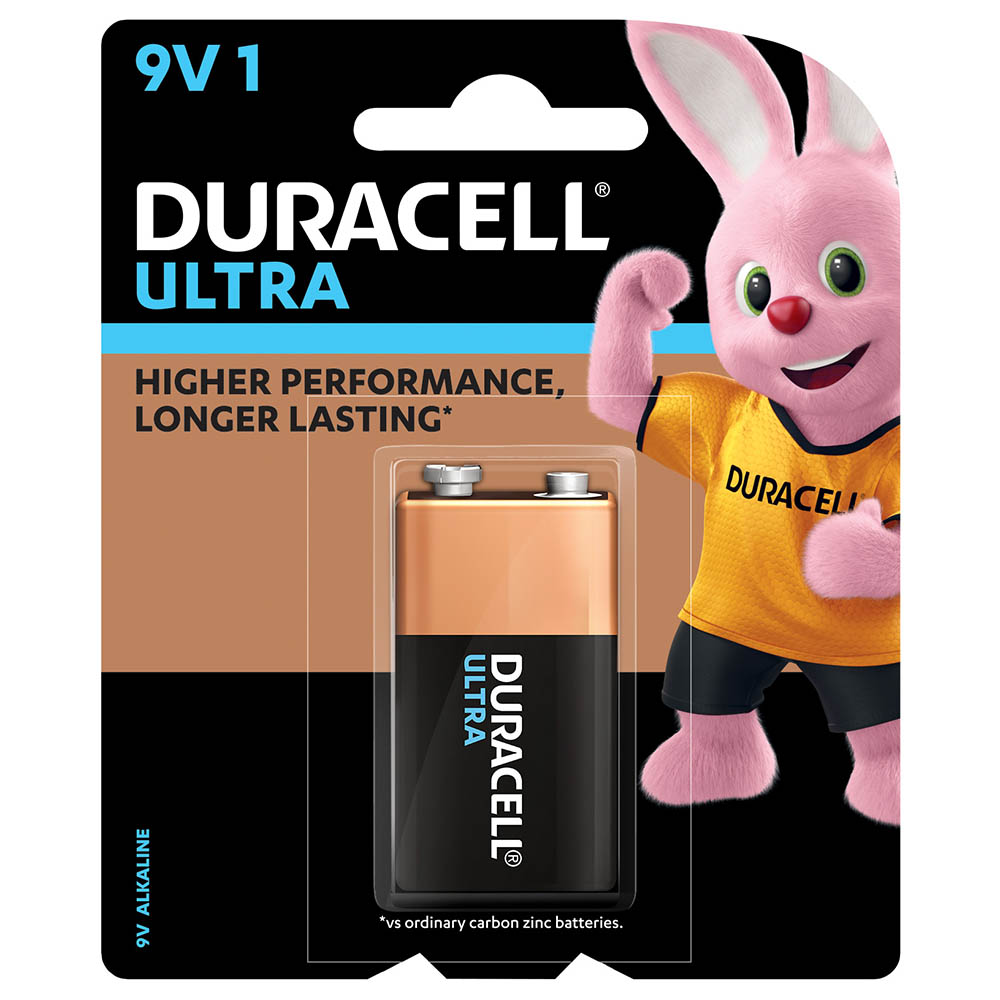 Image for DURACELL ULTRA ALKALINE 9V BATTERY from Office National Capalaba