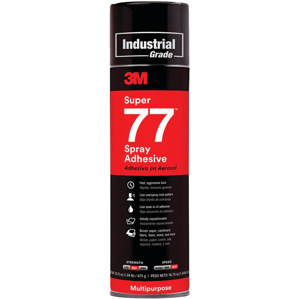 Image for 3M 77 SUPER MULTI-PURPOSE ADHESIVE SPRAY 467G from Axsel Office National