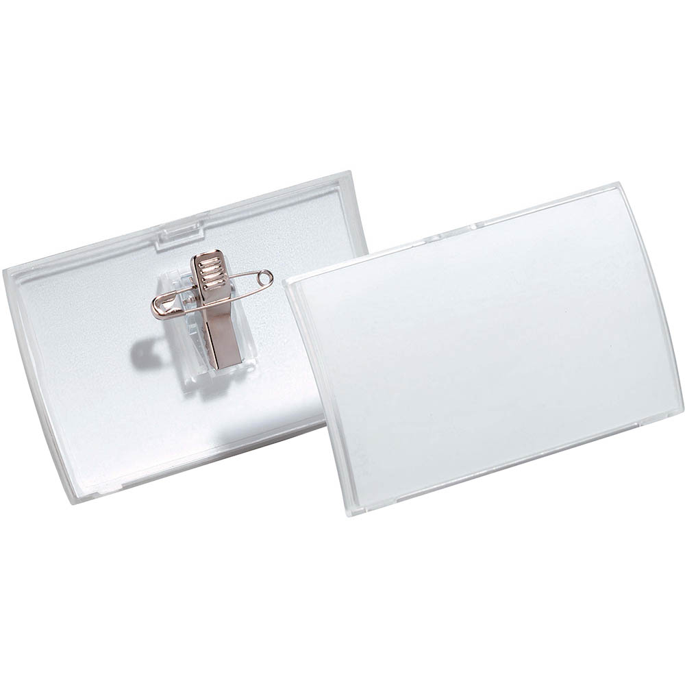 Image for DURABLE CLICK FOLD NAME BADGE WITH COMBI CLIP BOX 25 from Office National Kalgoorlie