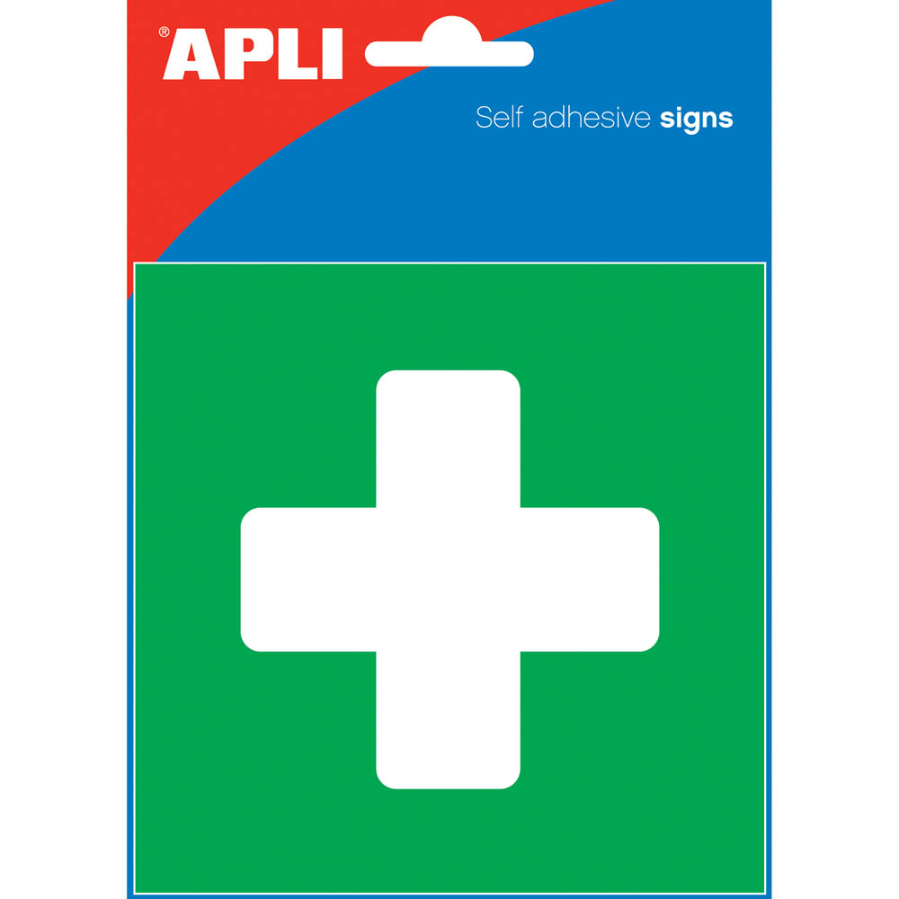 Image for APLI FIRST AID SELF ADHESIVE SIGN 114 X 114 MM from PaperChase Office National