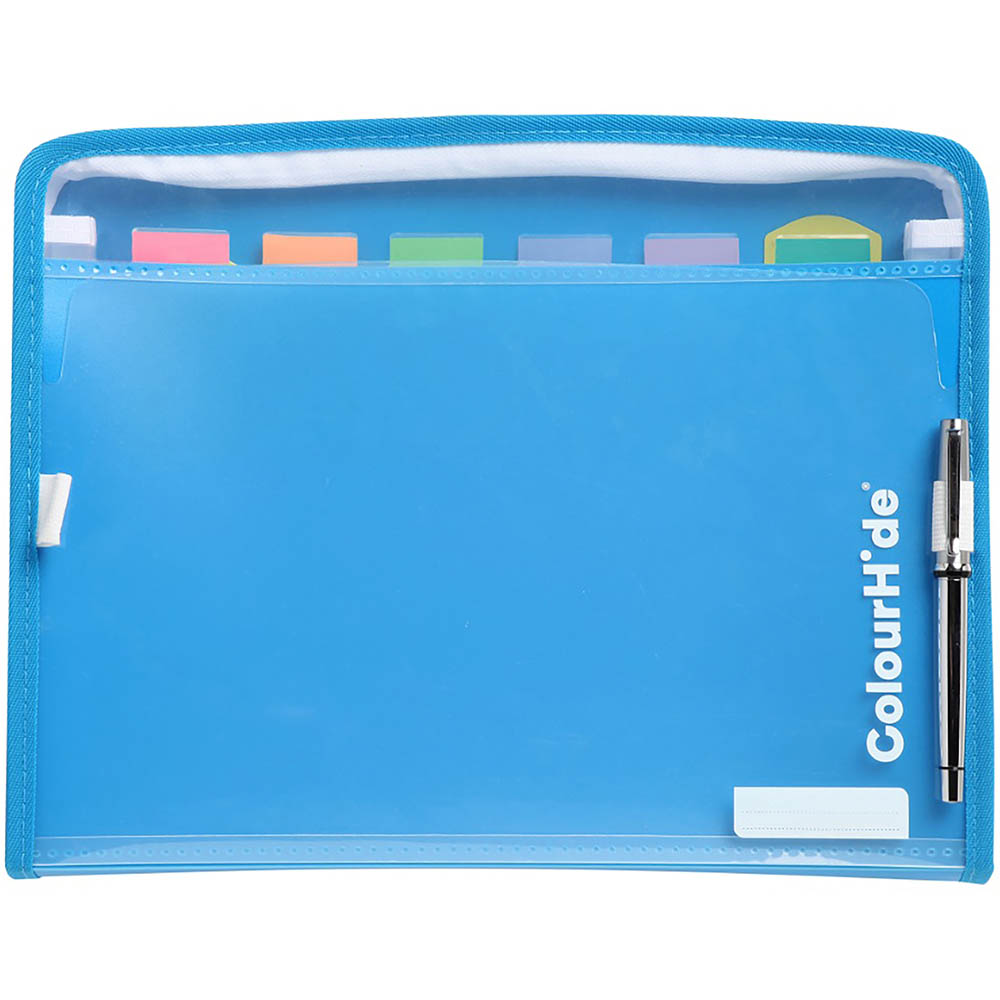 Image for COLOURHIDE ZIPIT PP EXPANDING FILE 7 POCKET FOOLSCAP BLUE from Office National Capalaba