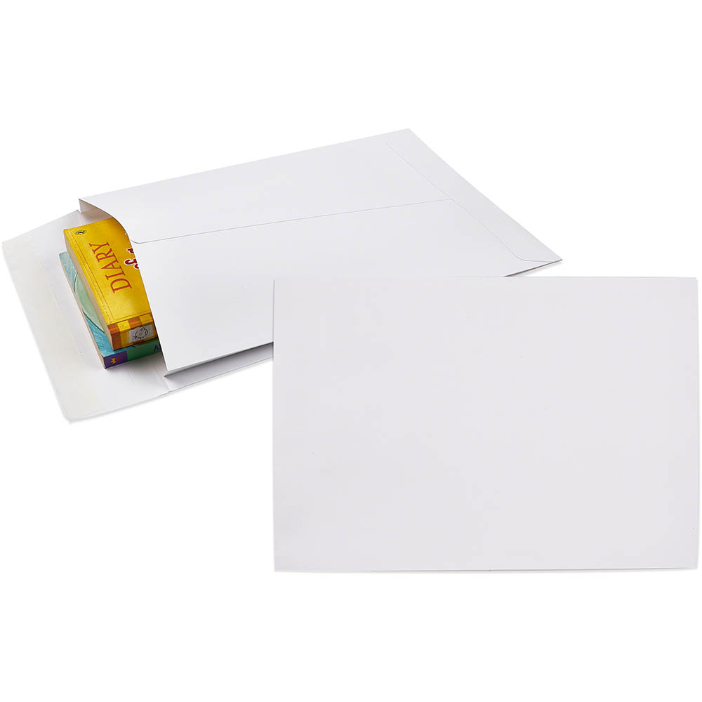 Image for CUMBERLAND ENVELOPES POCKET EXPANDABLE PLAINFACE STRIP SEAL 150GSM 340 X 229MM WHITE PACK 50 from Mackay Business Machines (MBM)