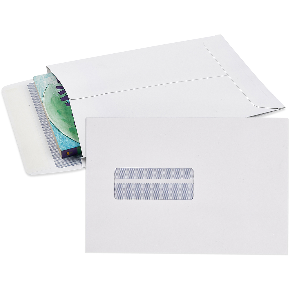 Image for CUMBERLAND ENVELOPES SECURITIVE POCKET EXPANDABLE WINDOWFACE STRIP SEAL 150GSM 245 X 162MM WHITE PACK 25 from Mackay Business Machines (MBM)