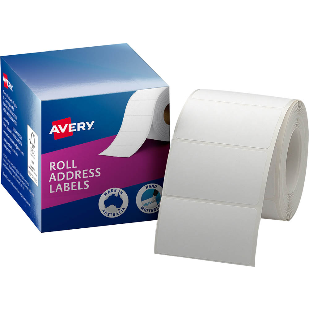 Image for AVERY 937103 ADDRESS LABEL 36 X 63MM ROLL WHITE BOX 500 from Office National Perth CBD