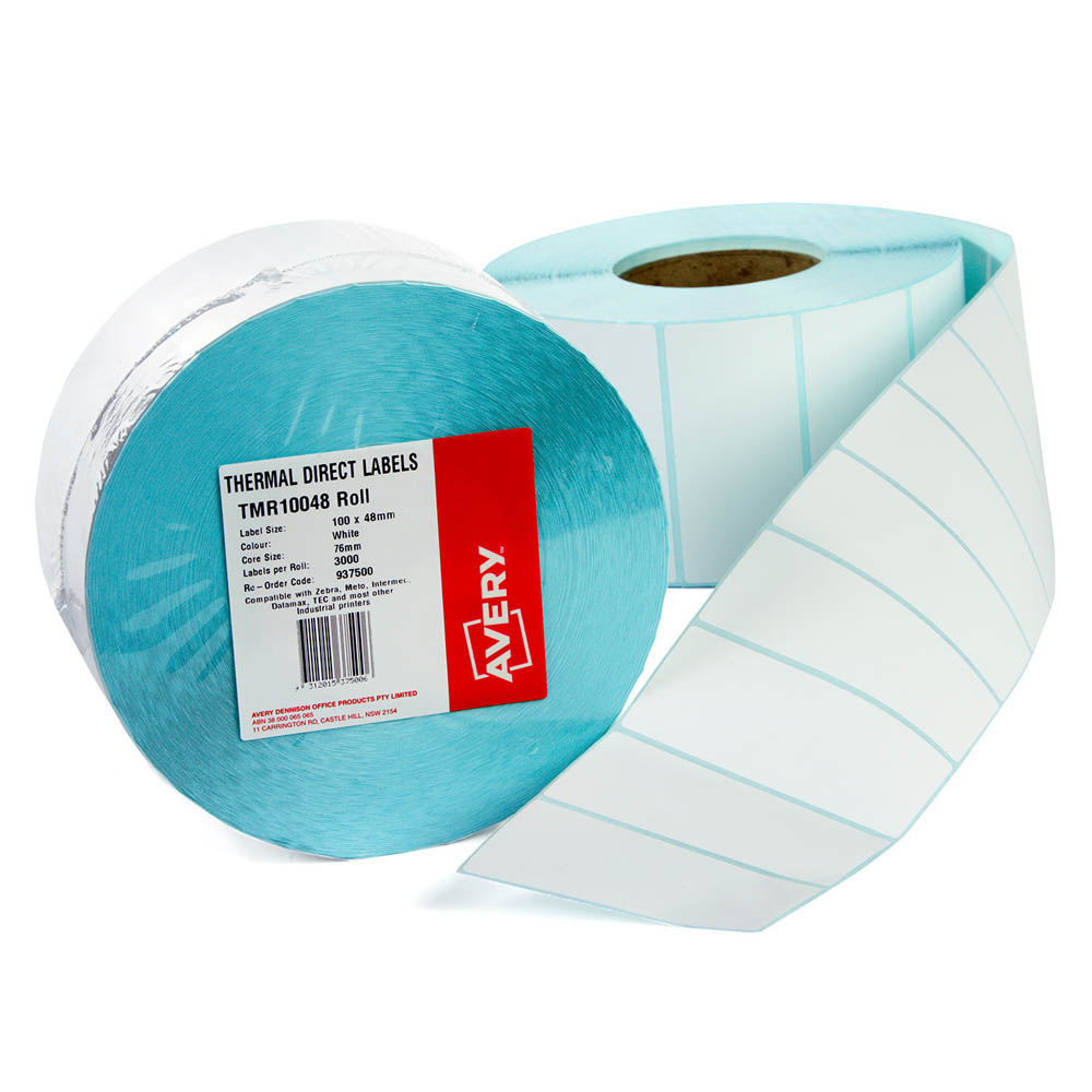 Image for AVERY 937500 THERMAL ROLL LABEL 100 X 48MM PACK 3000 from Paul John Office National