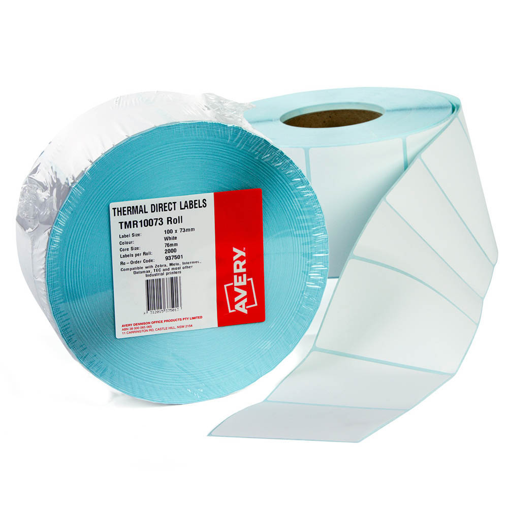 Image for AVERY 937501 THERMAL ROLL LABEL 100 X 73MM PACK 2000 from Office National Perth CBD