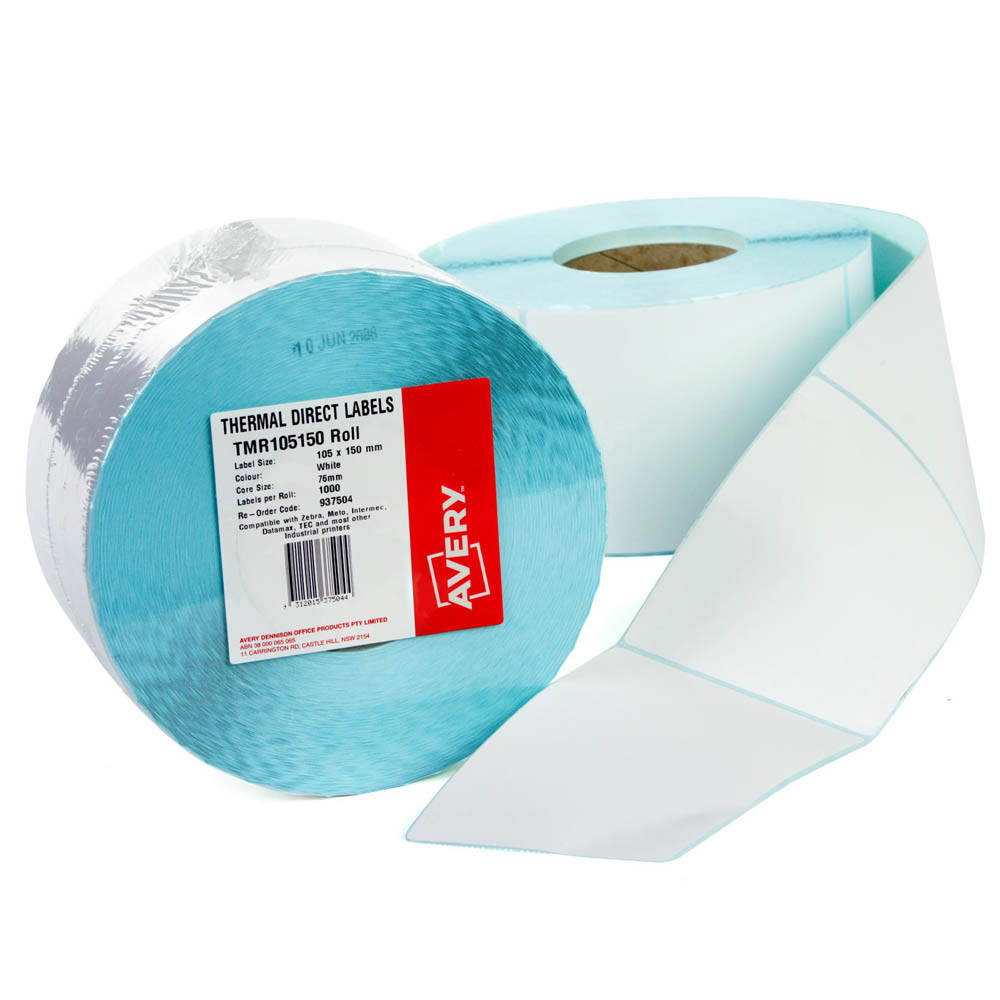 Image for AVERY 937503 THERMAL ROLL LABEL 100 X 100MM PACK 1500 from Mackay Business Machines (MBM)