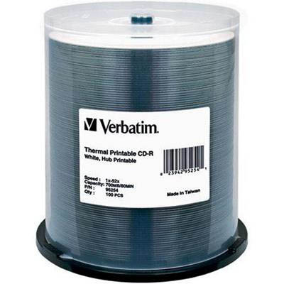 Image for VERBATIM THERMAL CD-R DISC PACK 100 from Office National Capalaba