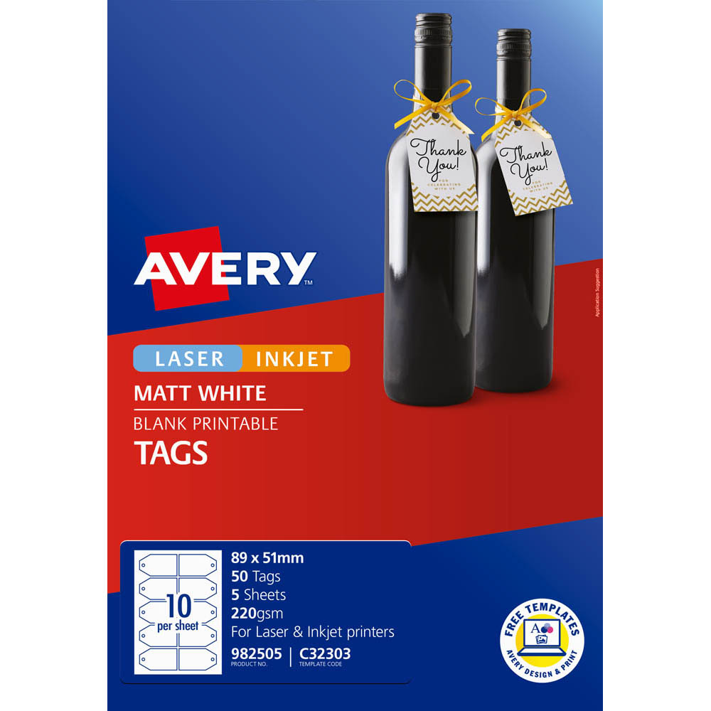 Image for AVERY 982505 C32303 GIFT TAG PACK 50 from Office National Capalaba