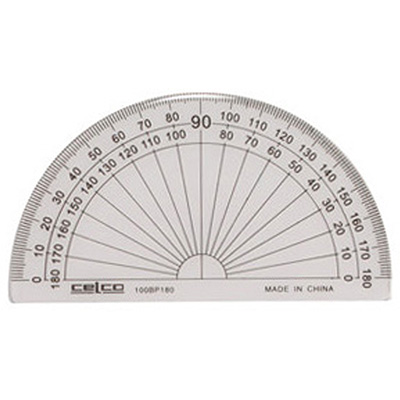 Image for CELCO PROTRACTOR 180 DEGREES 100MM from Our Town & Country Office National