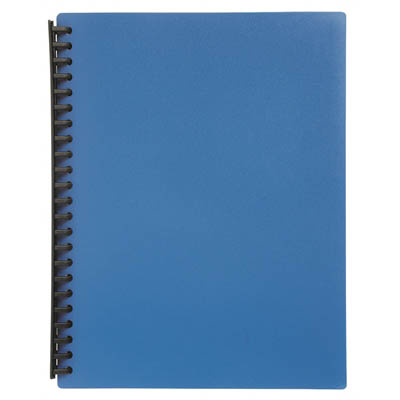 Image for MARBIG DISPLAY BOOK REFILLABLE 20 POCKET A4 BLUE from OFFICE NATIONAL CANNING VALE, JOONDALUP & OFFICE TOOLS OPD