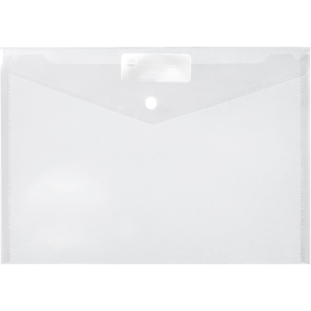 Image for MARBIG DOCULOPE WALLET BUTTON CLOSURE A4 CLEAR from Paul John Office National