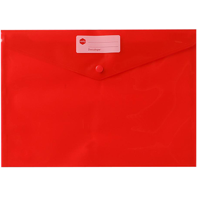 Image for MARBIG DOCULOPE WALLET BUTTON CLOSURE A4 RED from Paul John Office National