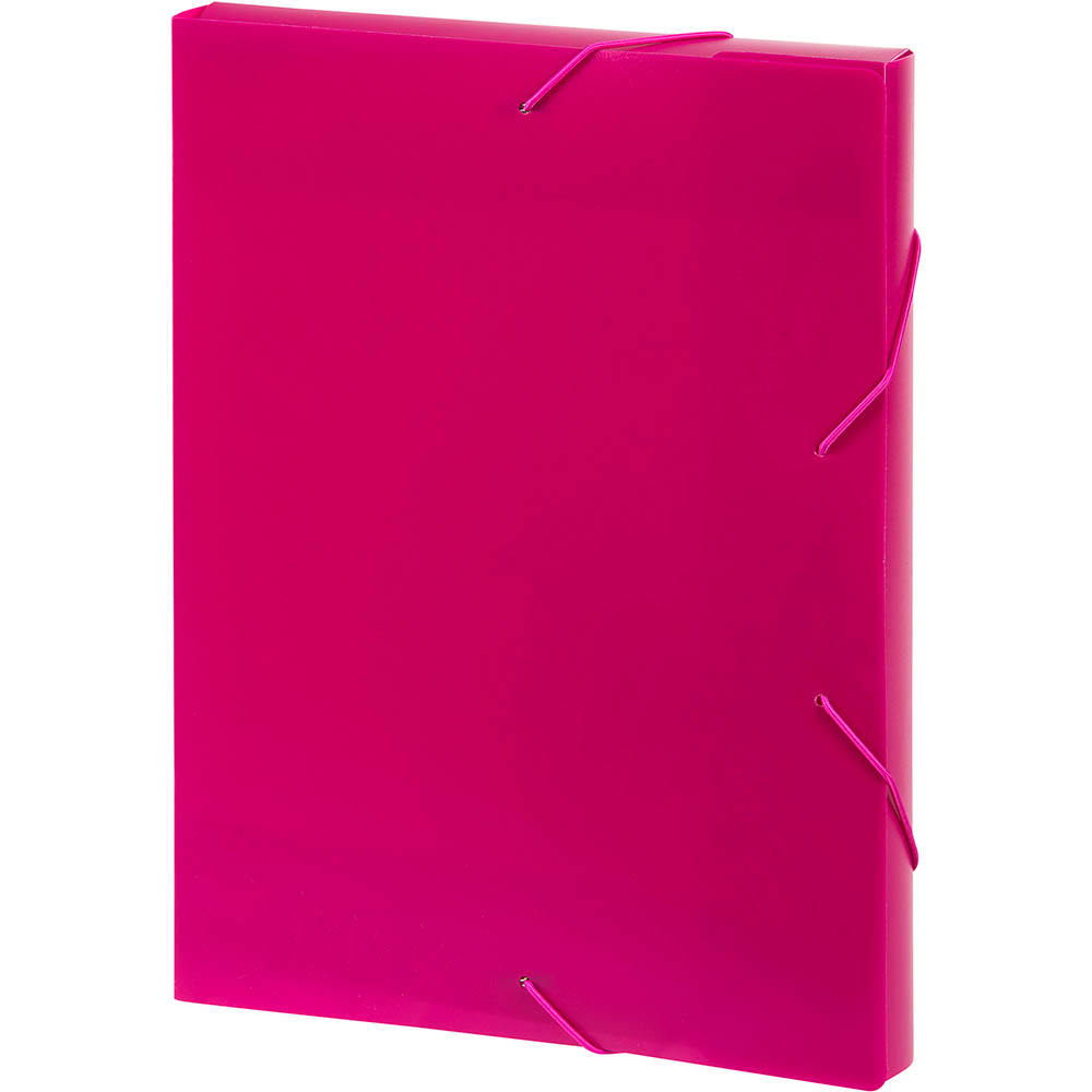 Image for MARBIG DOCUMENT BOX A4 PINK from Mackay Business Machines (MBM)