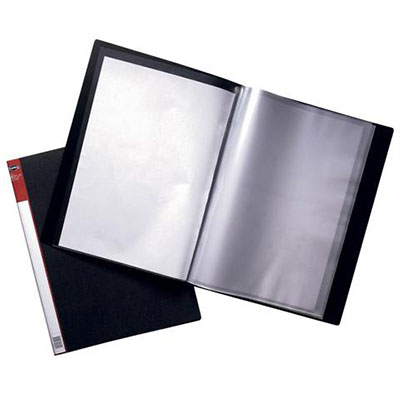 Image for MARBIG CLEARVIEW DISPLAY BOOK NON-REFILABLE 76 POCKET A4 BLACK from Paul John Office National