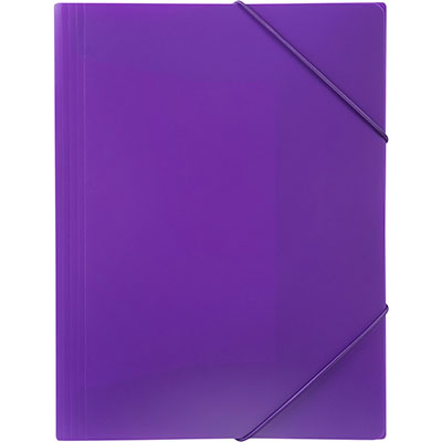 Image for MARBIG SOFT TOUCH DOCUMENT WALLET A4 PURPLE from Office National Kalgoorlie