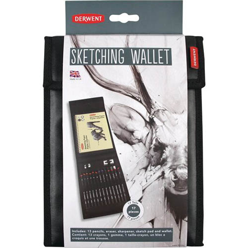 Image for DERWENT SKETCHING WALLET ASSORTED SET 16 from Wetherill Park / Smithfield Office National