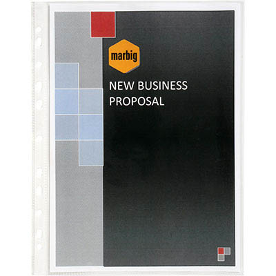 Image for MARBIG HEAVY DUTY COPYSAFE SHEET PROTECTORS A4 BOX 50 from Office National Perth CBD