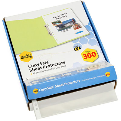 Image for MARBIG COPYSAFE SHEET PROTECTORS LIGHTWEIGHT A4 BOX 300 from Office National Perth CBD