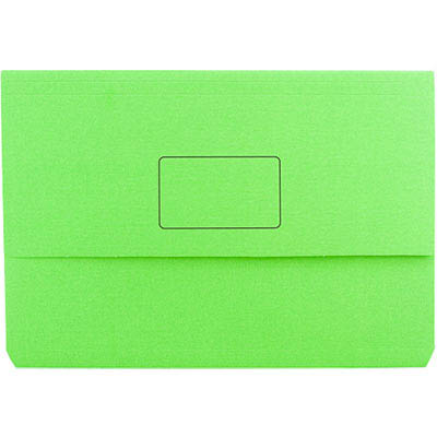 Image for MARBIG SLIMPICK DOCUMENT WALLET FOOLSCAP GREEN from Paul John Office National