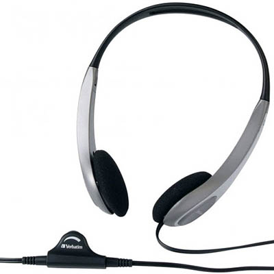 Image for VERBATIM HEADSET MULTIMEDIA WITH VOLUME CONTROL SILVER/BLACK from Office National Hobart