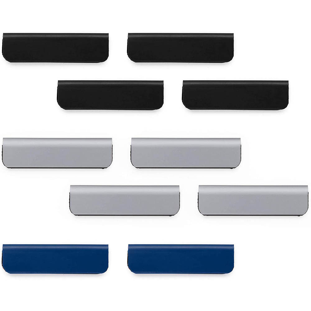 Image for DURABLE DURAFIX CLIP SELF-ADHESIVE MAGNETIC CLIP 60MM ASSORTED PACK 10 from C & G Office National