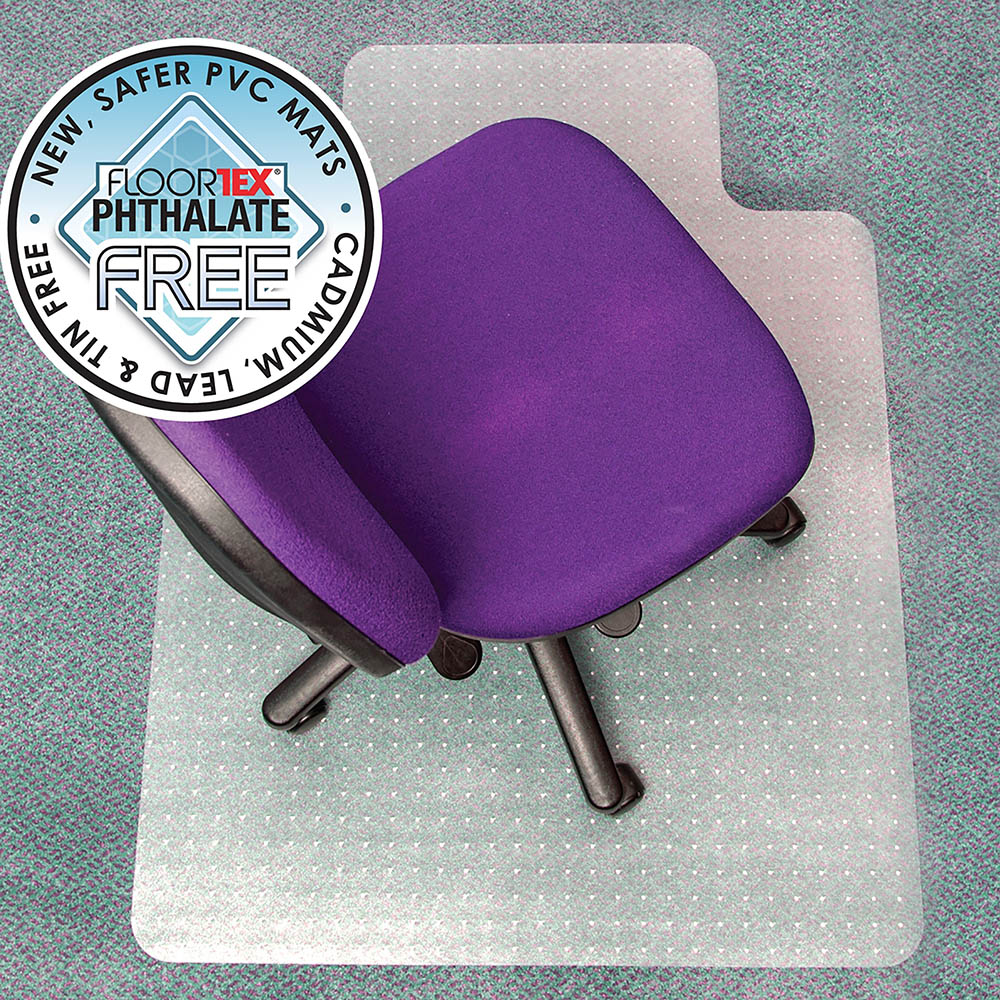 Image for FLOORTEX ADVANTAGEMAT CHAIRMAT PVC KEYHOLE MEDUM CARPET 900 X 1200MM from City Stationery Office National