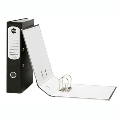 Image for MARBIG LEVER ARCH FILE REINFORCED SPINE 75MM A4 MOTTLE BLACK from Mackay Business Machines (MBM)