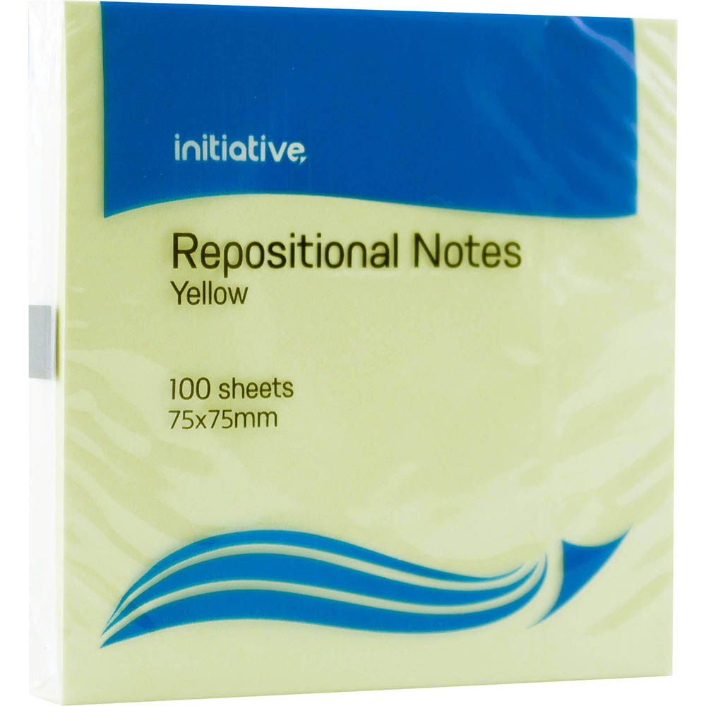 Image for INITIATIVE REPOSITIONAL NOTES 76 X 76MM YELLOW PACK 12 from OFFICE NATIONAL CANNING VALE, JOONDALUP & OFFICE TOOLS OPD