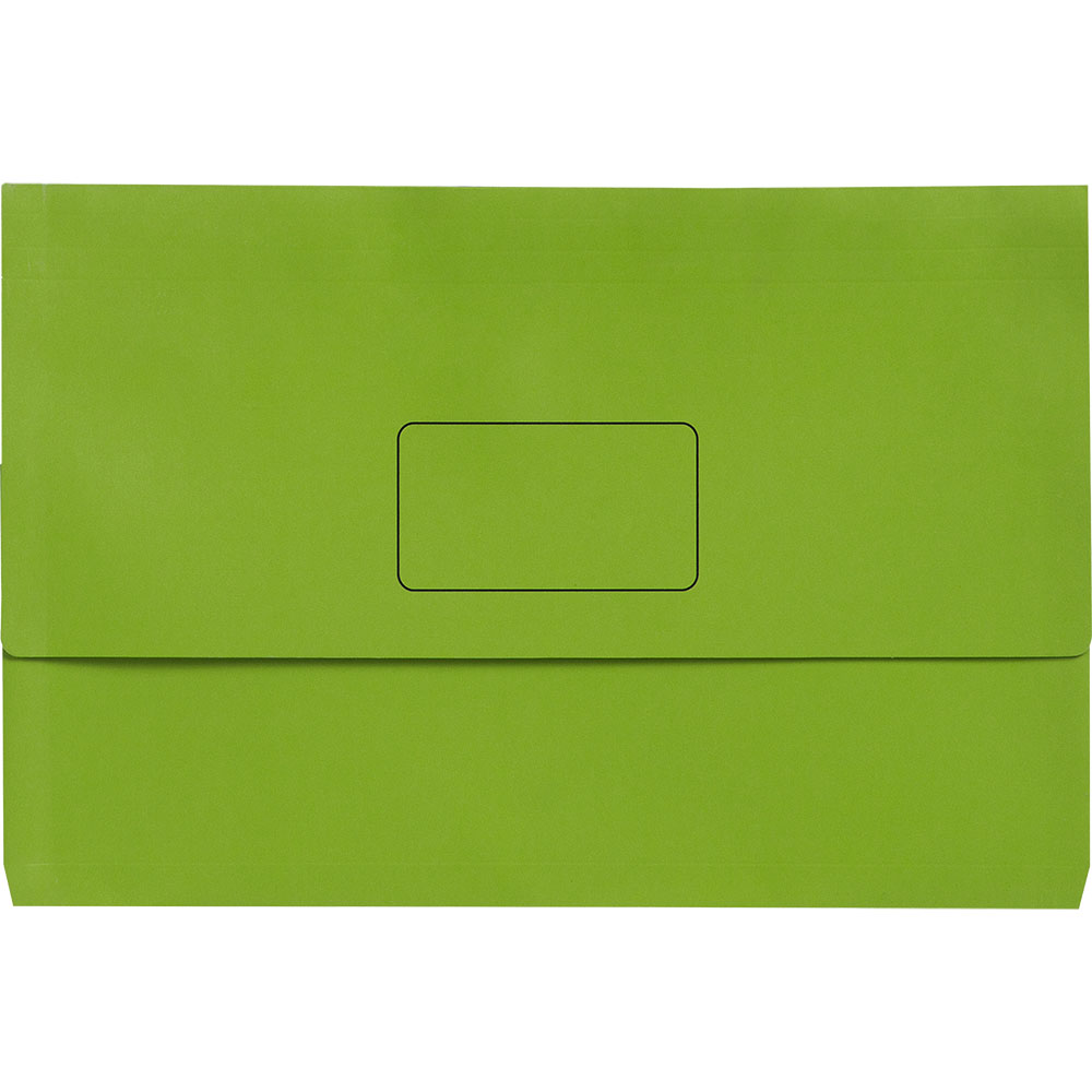 Image for INITIATIVE DOCUMENT WALLET 345 X 225MM GREEN PACK 50 from City Stationery Office National