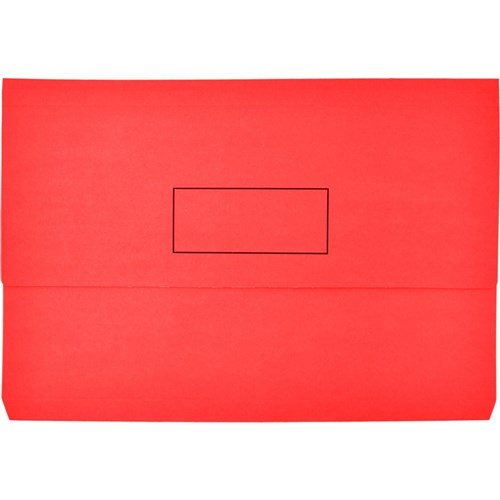 Image for INITIATIVE DOCUMENT WALLET 345 X 225MM RED PACK 50 from City Stationery Office National