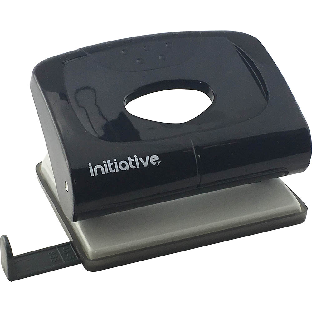 Image for INITIATIVE HOLE PUNCH 2 HOLE 20 SHEET MEDIUM PLASTIC BLACK from Premier Office National