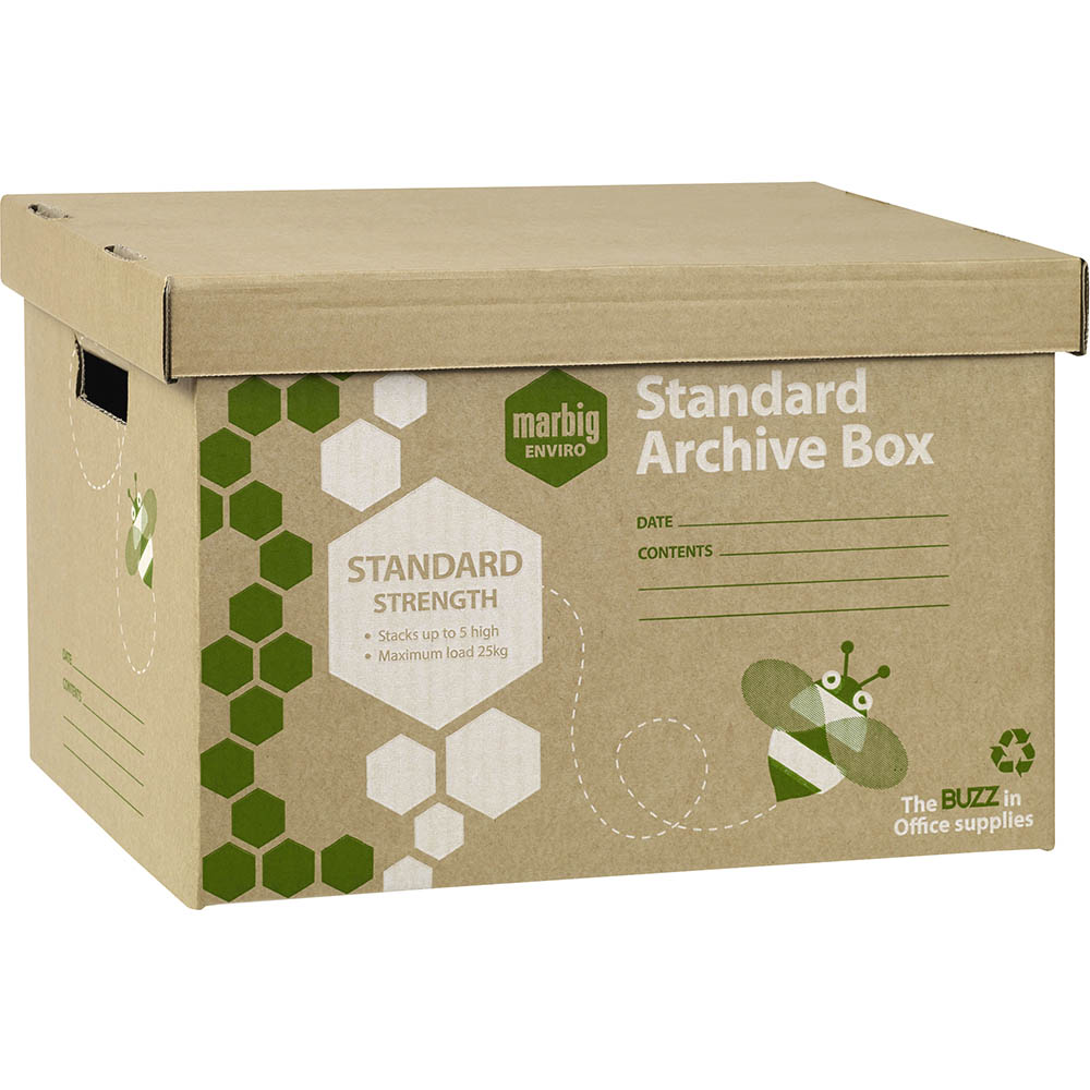 Image for MARBIG ENVIRO ARCHIVE BOX 420 X 315 X 260MM CARTON 20 from Paul John Office National