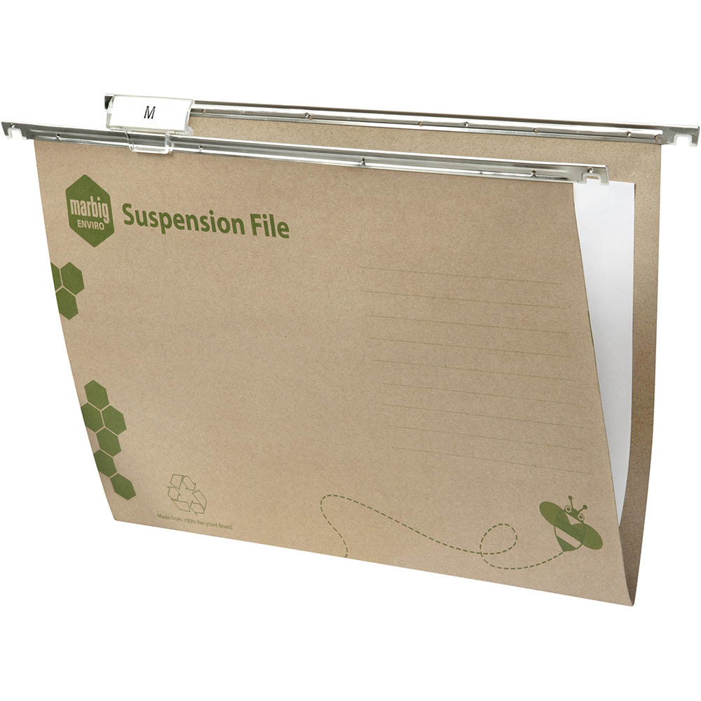Image for MARBIG ENVIRO SUSPENSION FILES FOOLSCAP GREEN BOX 50 from Mackay Business Machines (MBM)