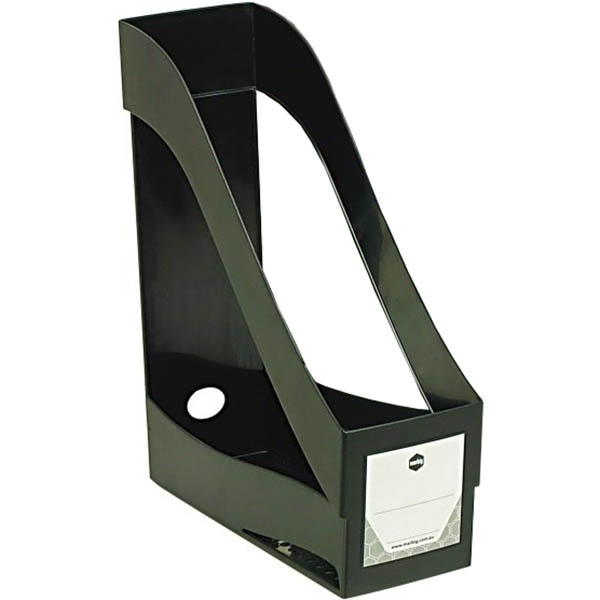 Image for MARBIG ENVIRO MAGAZINE HOLDER STACKING BLACK from Axsel Office National