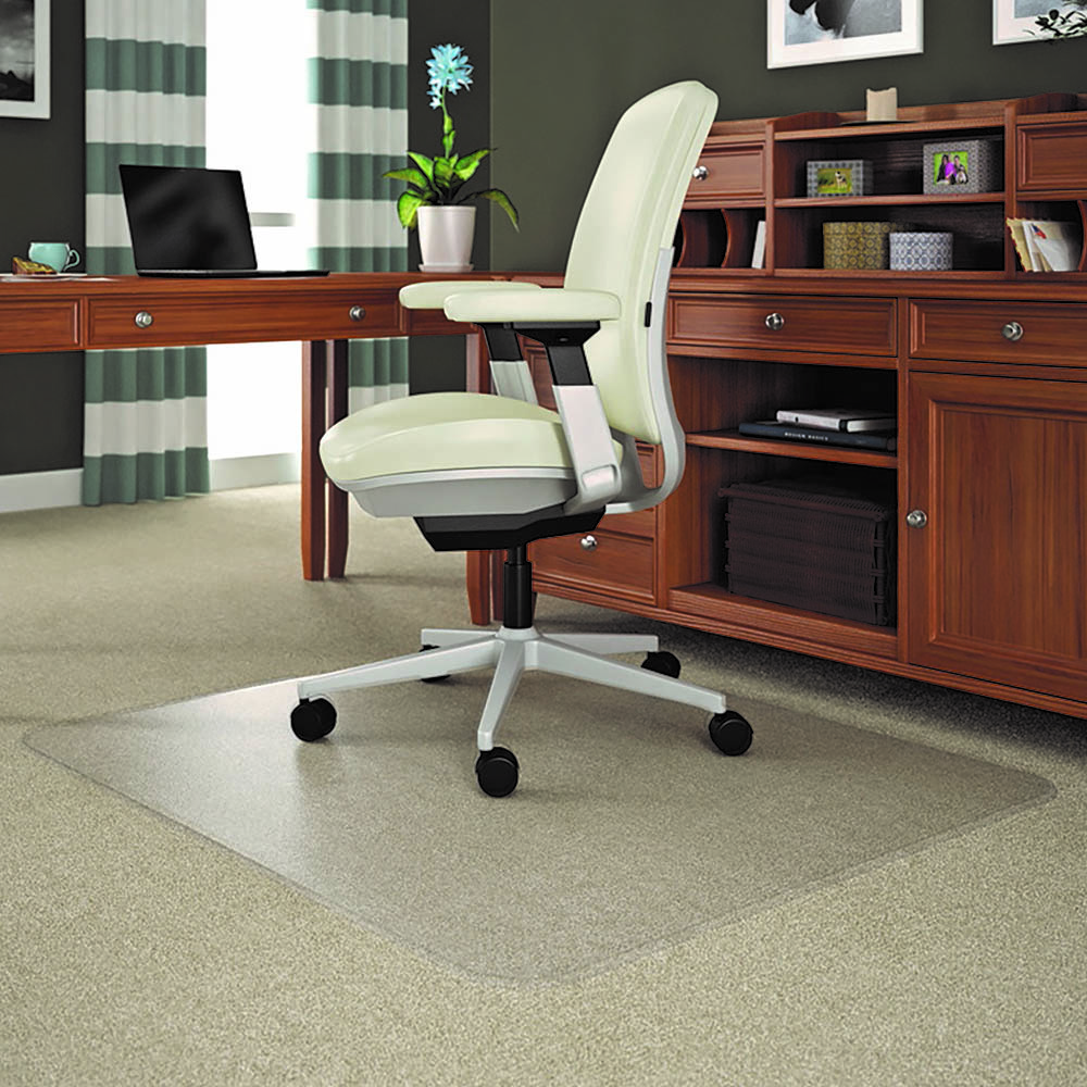 Image for MARBIG ROLLAMAT CHAIRMAT PVC RECTANGULAR MEDIUM PILE CARPET 1160 X 1520MM CLEAR from City Stationery Office National