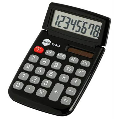 Image for MARBIG CALCULATOR POCKET 8 DIGIT BLACK from Office National Hobart