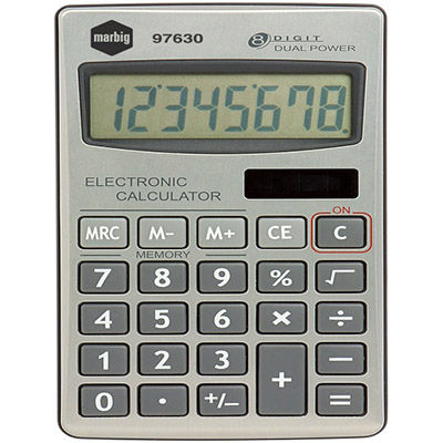 Image for MARBIG CALCULATOR HANDHELD 8 DIGIT from Our Town & Country Office National