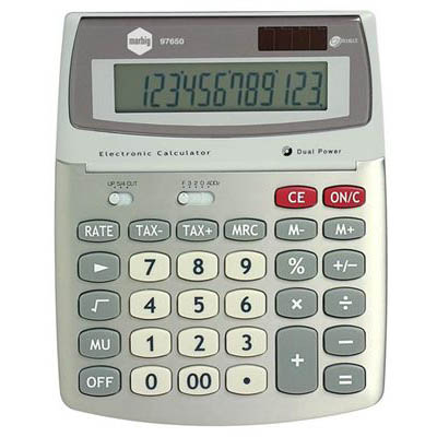 Image for MARBIG DESKTOP CALCULATOR 12 DIGIT SILVER from Pirie Office National