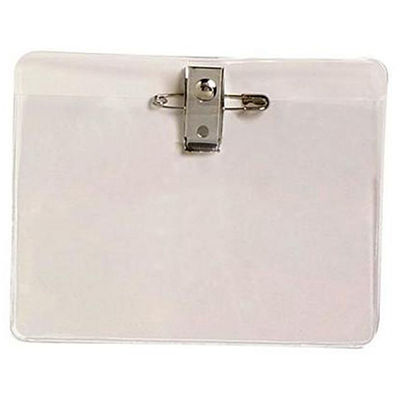 Image for REXEL CARD HOLDER LARGE WITH PIN AND CLIP PACK 10 from Office National Hobart