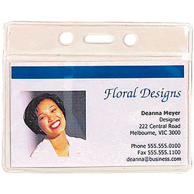Image for REXEL ID POUCH SOFT LANDSCAPE 94 X 78MM CLEAR PACK 10 HANGSELL from Axsel Office National